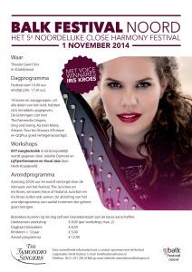 Flyer Balk Festival Noord